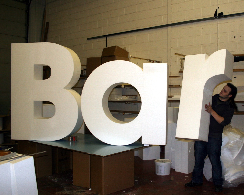 polystyrene letters 1500 mm high eps bar letters