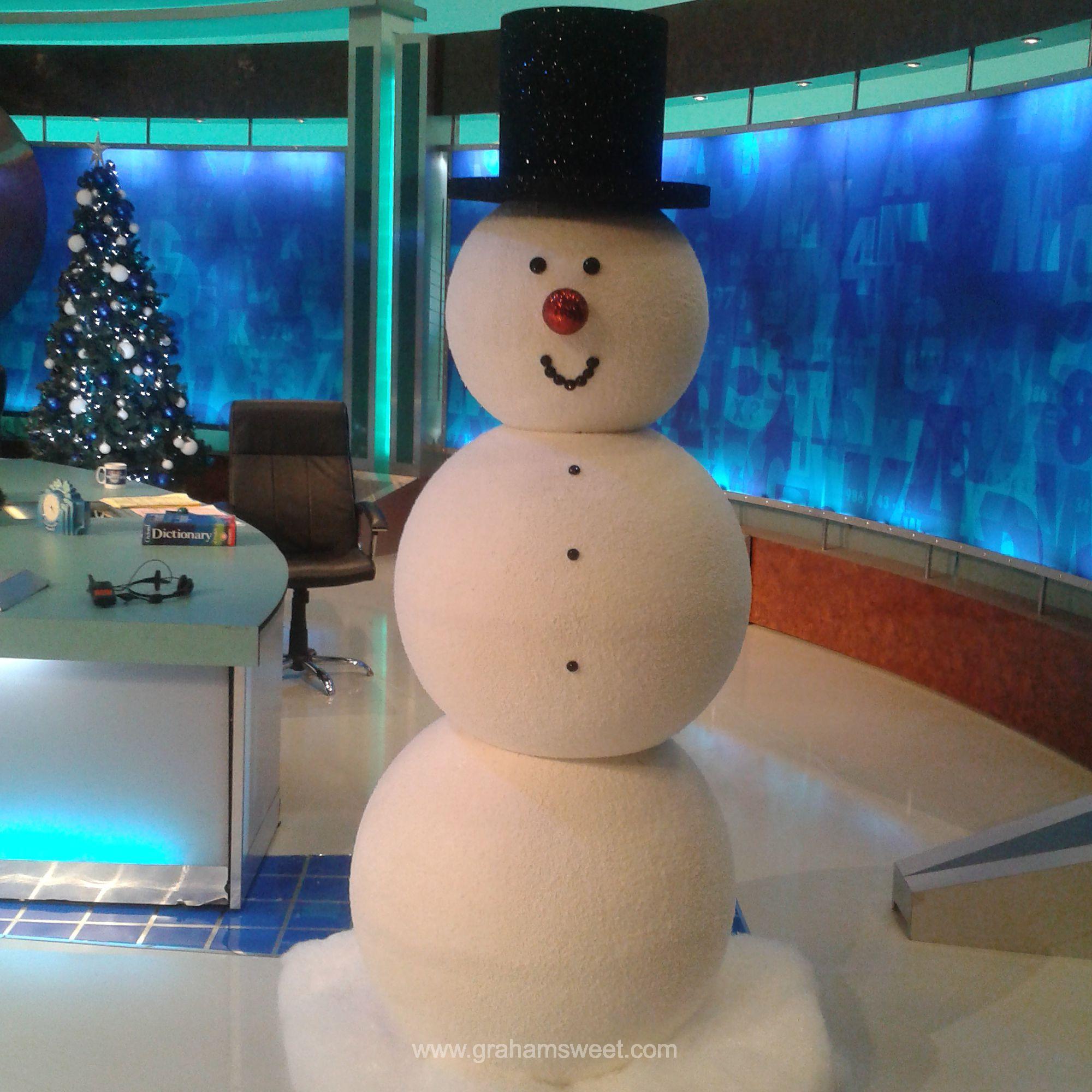Объемный большой снеговик своими руками 145