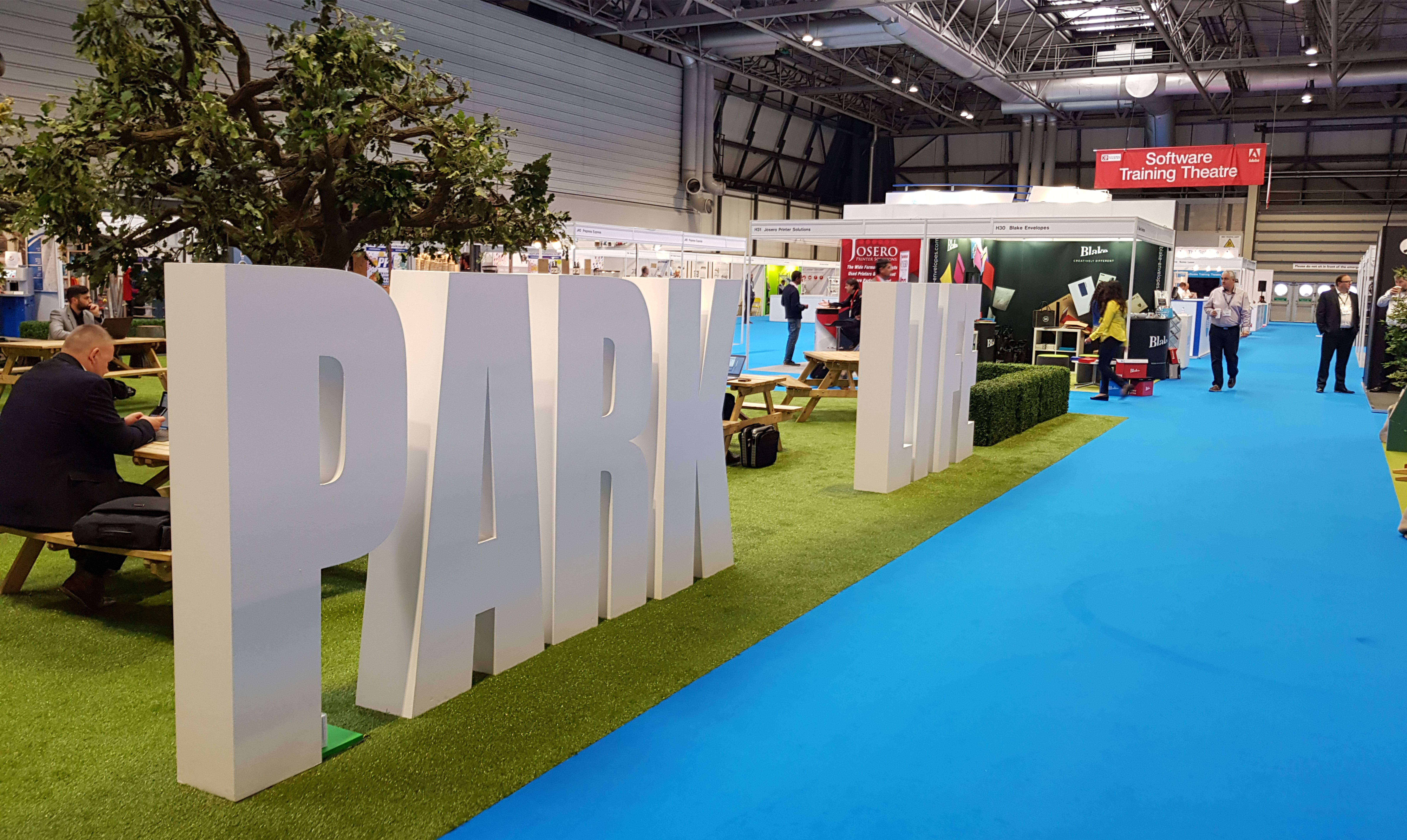 D Printing Exhibition Nec : Giant park life letters at the print show nec