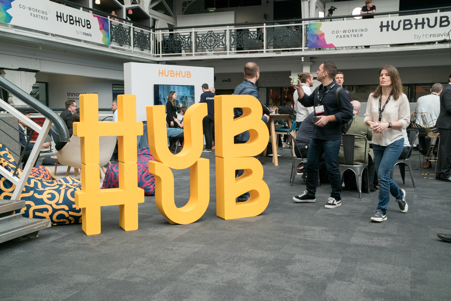 HUB HUB making an impact with large 3D letters!