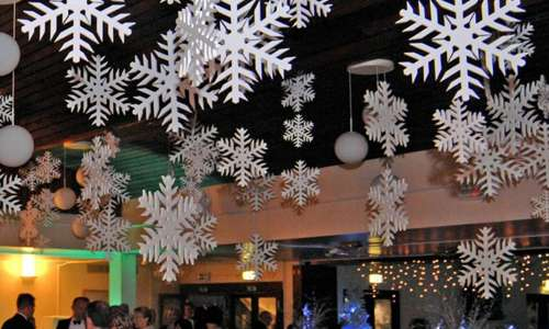 polystyrene snowflakes for commercial display - Commercial Christmas Decorations