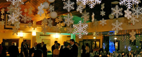 Polystyrene snowflakes- event and venue theming