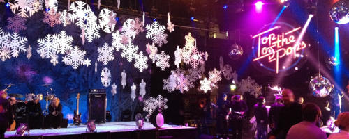 polystyrene snowflakes for tv and photo shoots