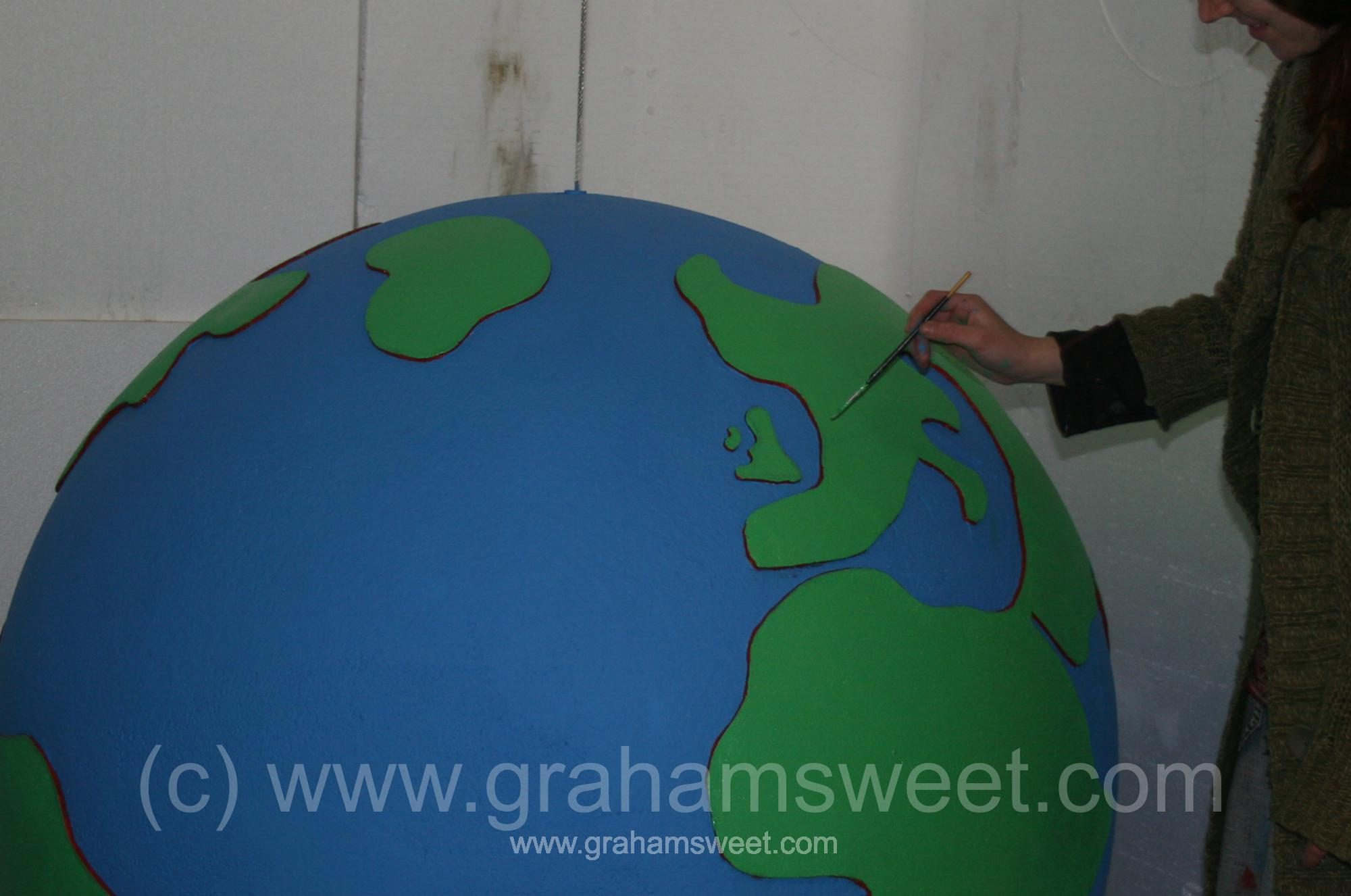 1200 mm - painted polystyrene globe