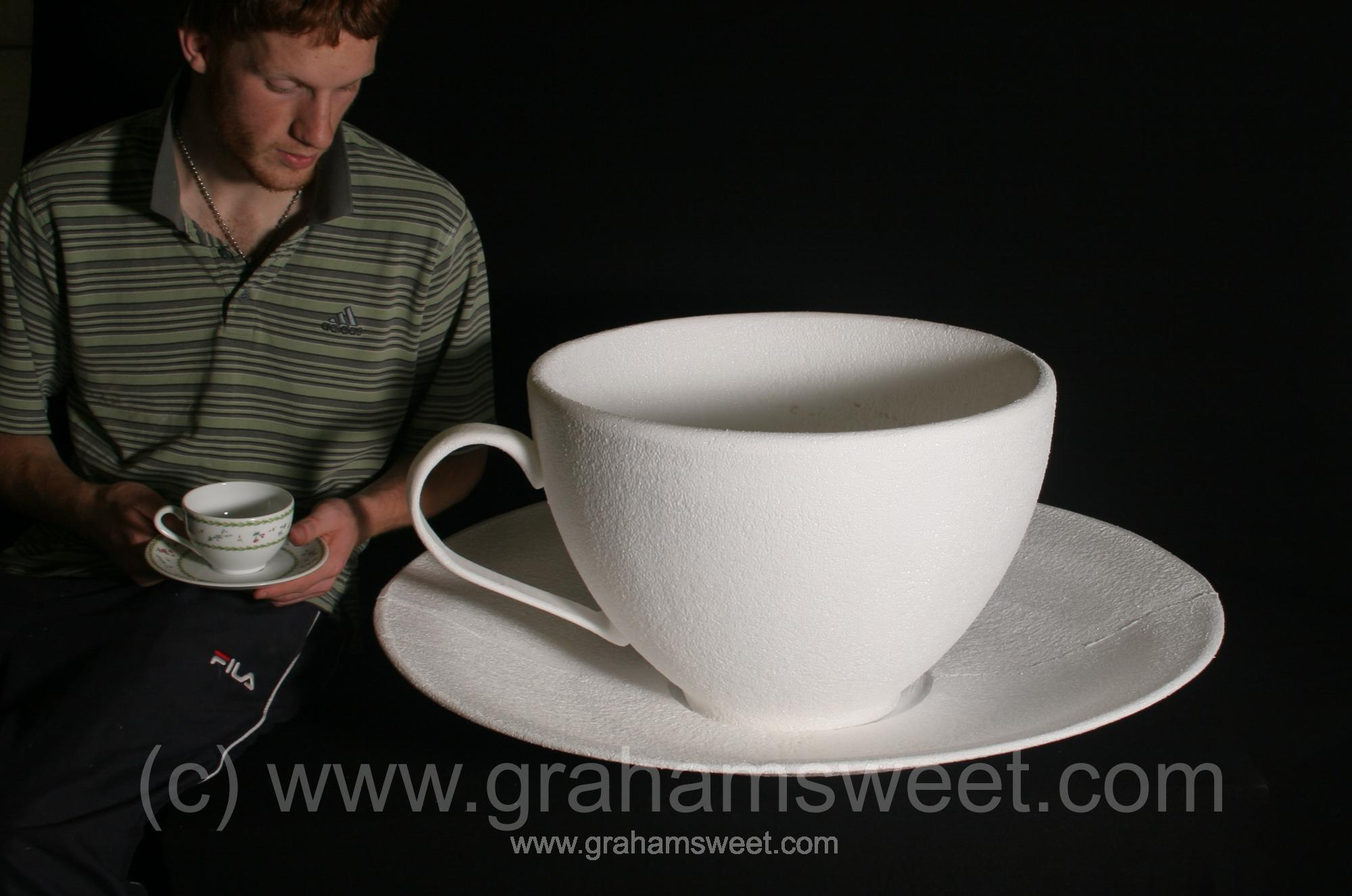 polystyrene cup and saucer
