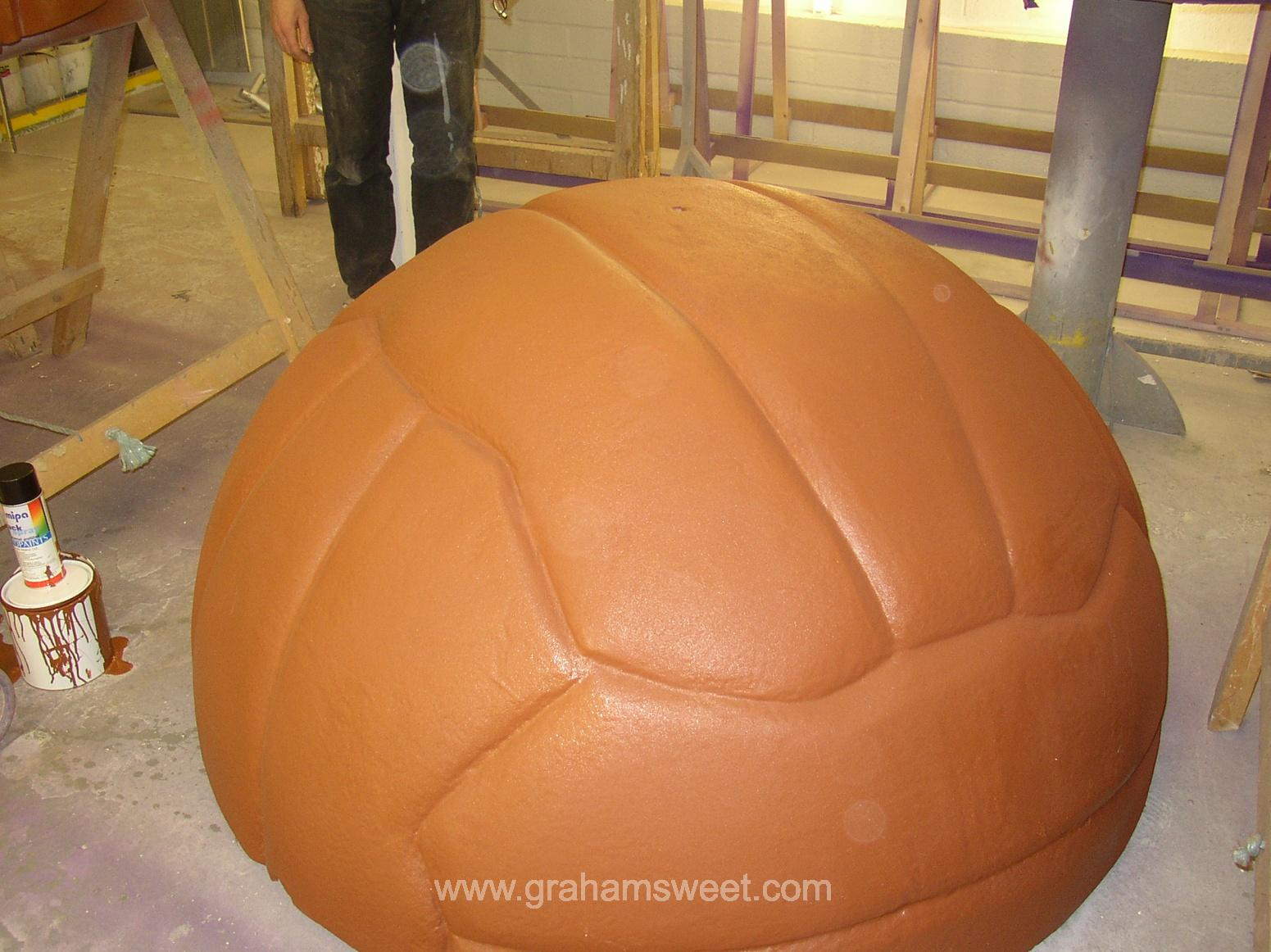 brown polystyrene ball