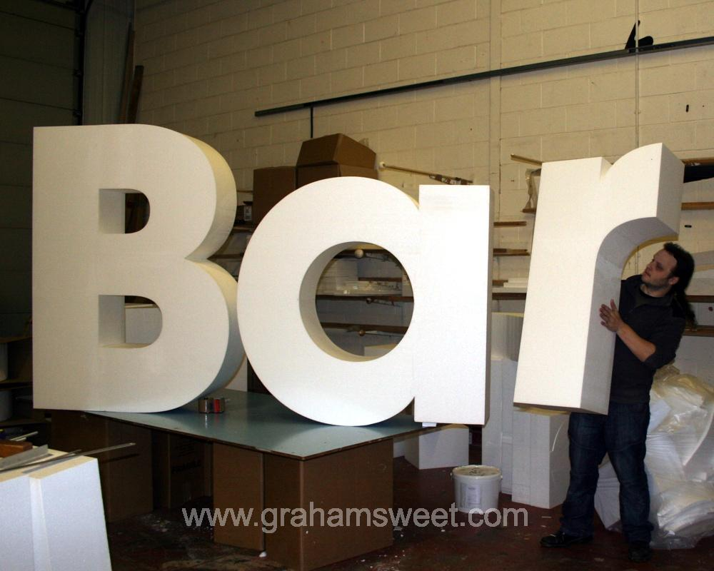 1500 mm high EPS Bar letters
