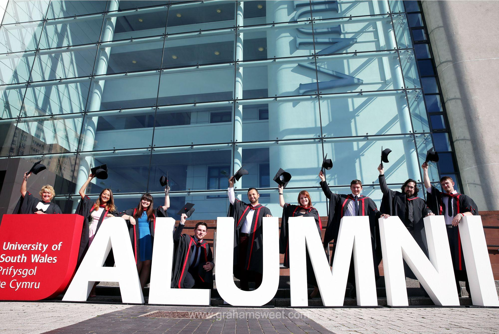 university of south wales - alumini letters