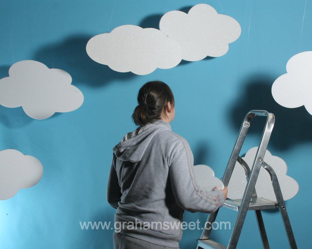 Polystyrene Clouds - For window displays