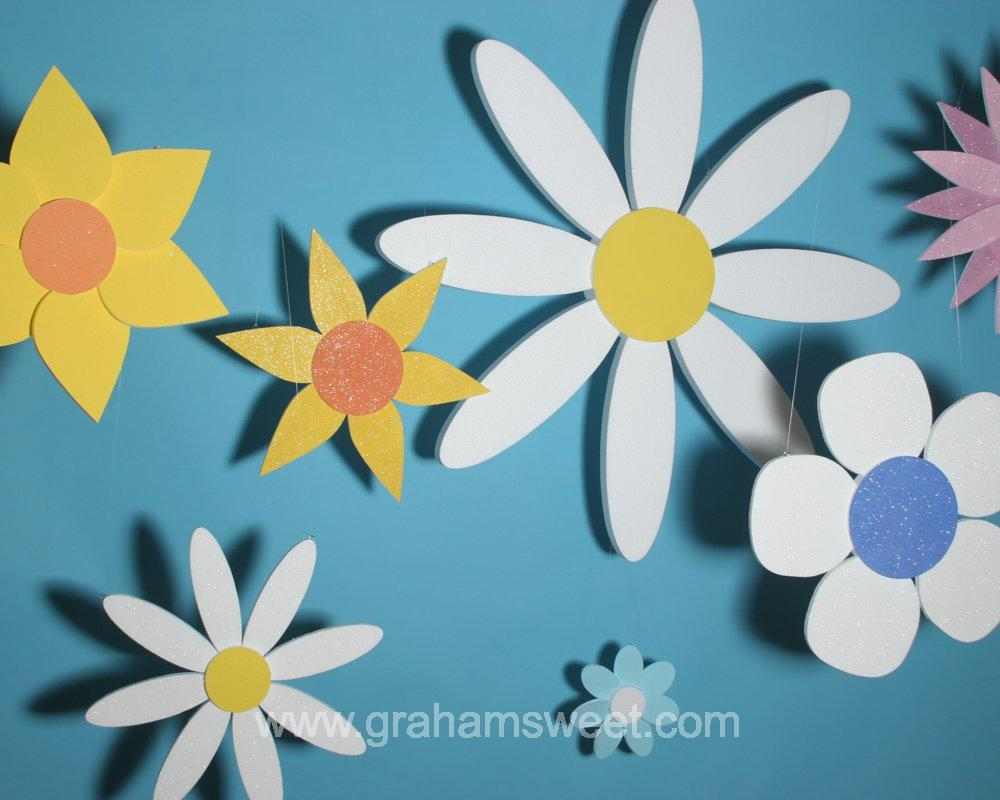 Polystyrene Flowers - for summer displays