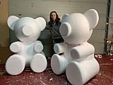 1500 mm tall polystyrene teddy bears