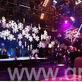Plain snowflakes for Top of the Pops 2012 04