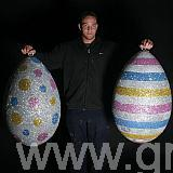 800 mm high glittered eggs