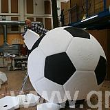 constructing large football