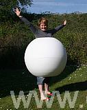 polystyrene ball outfit