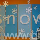 polystyrene snow letters