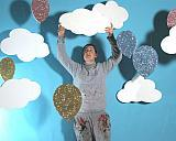 Polystyrene Clouds and 2d poly glittered balloons