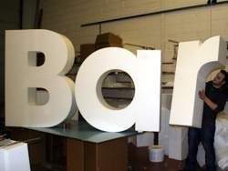 polystyrene letters