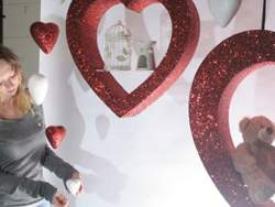 valentines for retail and window display