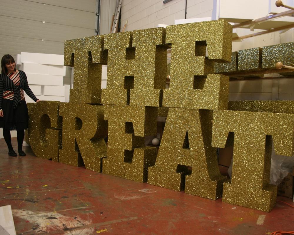 Polystyrene letters foam styrofoam letters giant for Giant foam letters diy