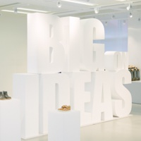 polystyrene letters - coated
