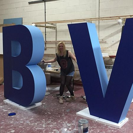 polystyrene letters - faced
